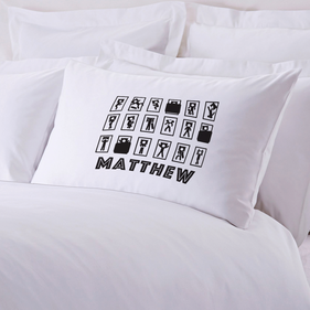 Personalized Sleepy Head Pillow Case