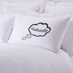 Personalized Thinking While I Sleep Pillow Case