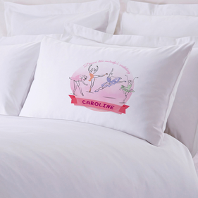 Personalized Ballerina Pillow Case