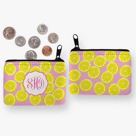 Pink Lemonade Custom Coin Purse