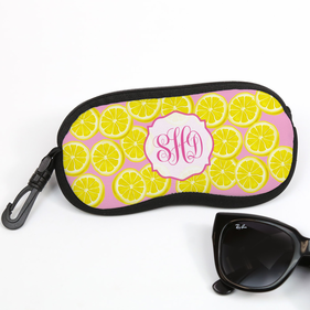 Pink Lemonade Monogram Glasses Case