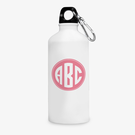 Pink Monogram Custom Aluminum Water Bottle