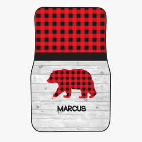 Plaid Bear Custom Front Car Mat