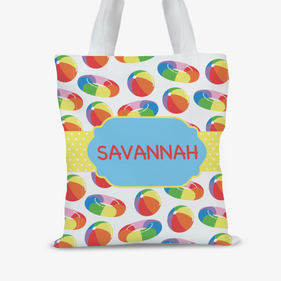 Pool Fun Personalized Kids Tote Bag