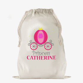 Princess Carriage Large Custom Drawstring Sack