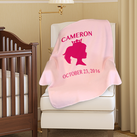 Princess Custom Name Plush Baby Blanket