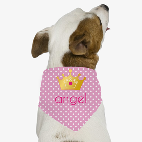 Princess Personalized Dog Bandana