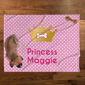 Princess Personalized Plush Pet Blanket