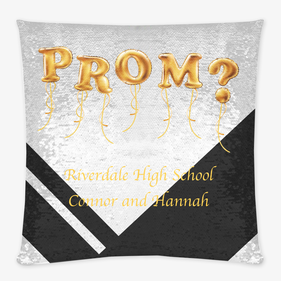 Prom Personalized Sequin Decorative Cushion Cover