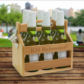 Exclusive Sale - Property Of Custom Beverage Caddy w/ Bottle Opener