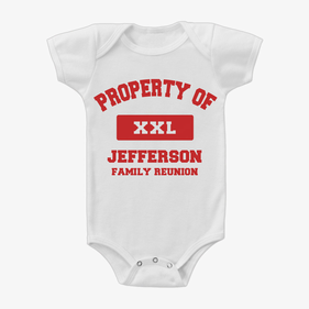 Property Of XXL Personalized Baby Short Sleeve One-Piece Bodysuit