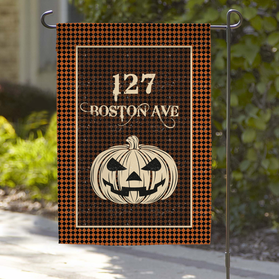 Pumpkin Head Personalized Garden Flag