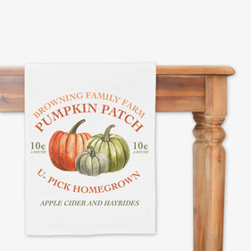 Pumpkin Patch Personalized Table Runner