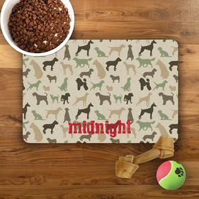 Midnight Personalized Pet Placemat