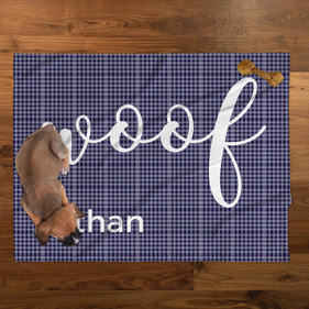 Purple Plaid Personalized Pet Blanket