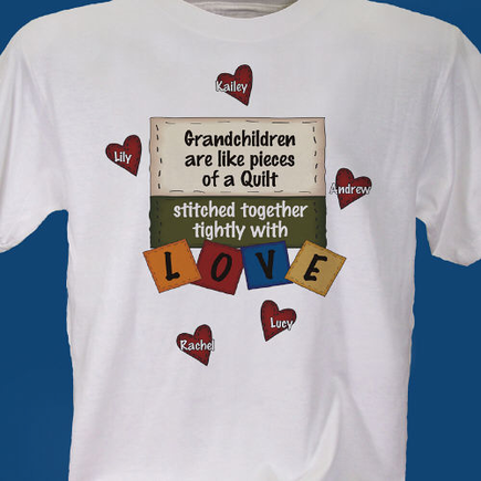 quilted hearts T-shirt