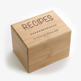 Family Heirloom Personalized Recipe Box
