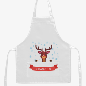 Red Nose Reindeer Custom Kids Apron
