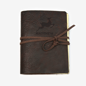 Reindeer Custom Genuine Leather-Bound Large Journal