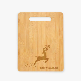 Reindeer Personalized Cutting Board