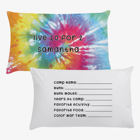 Samantha Tie Dye Personalized Pillowcase