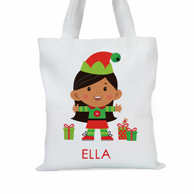 Santa's Helper Elf Personalized Tote Bag