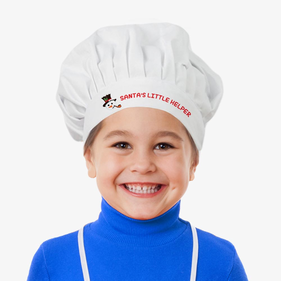 Santa's Little Helper Custom Chef Hat