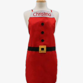 Santa Suit Personalized Christmas Aprons