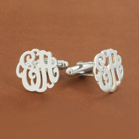Script Letter Monogram Cuff Links