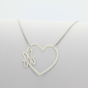 Heart Shape Initial Necklace