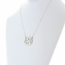 Silver Single Script Initial Necklace