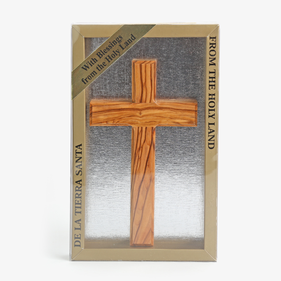 Simple Olivewood Cross From The Holy Land