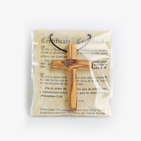 Simple Olivewood Cross Necklace