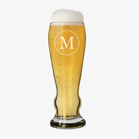 Single Initial Custom Pilsner Beer Glass