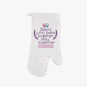 Sisters Personalized Oven Mitt