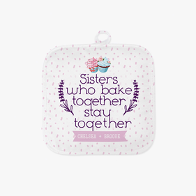Sisters Personalized Pot Holder