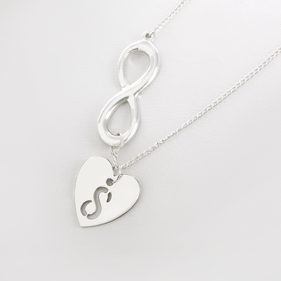 Small Heart Necklace With Infinity Charm