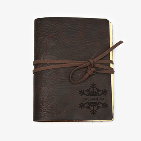 Snowflake Custom Genuine Leather-Bound Large Journal