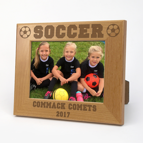 Soccer Personalized Wood Picture Frame