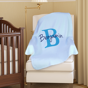 Personalized Plush Baby Blanket
