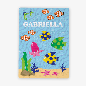 Something Fishy Custom Kids Puzzle / 80 Pieces