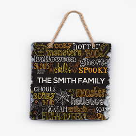 Spooky Halloween Personalized Wall Slate