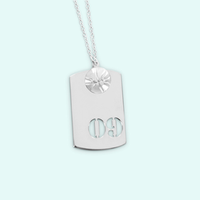 Sterling Silver Sport Necklace w/ Small Basketball Charm Personalized w/ Cutout Numbers