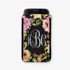 Spring Flowers Personalized Phone Pouch