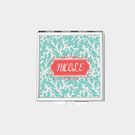 Square Coral Design Personalized with Name Pill Box