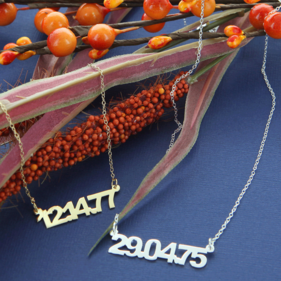 Sterling Silver Date Necklace