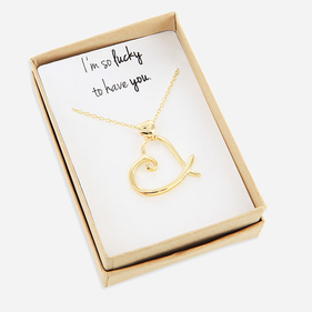 Sterling Silver Heart Necklace Personalized with Special Message Gift Boxed