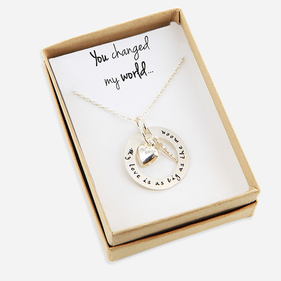 Sterling Silver Key to Your Heart Necklace Personalized with Special Message