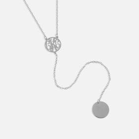 Sterling Silver Monogram Lariat Necklace