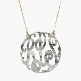 Marble Acrylic Monogram Necklace